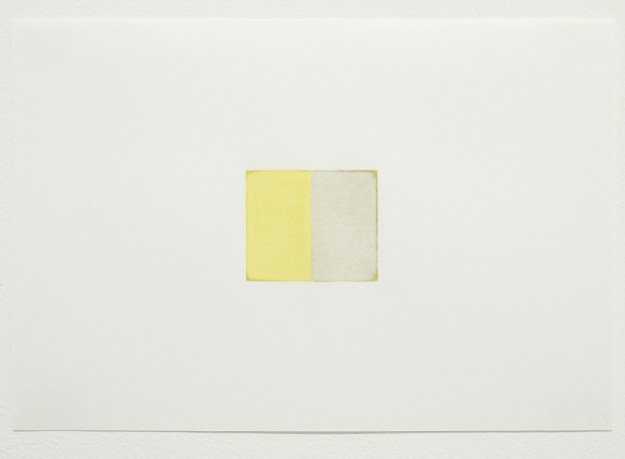 Eric Cruikshank, Number 3; Light-Yellow-Glaze-Warm-Grey-II; 2016, Coloured Pencil on Paper; 19cm 28 cm.