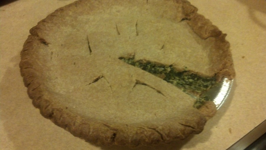 Finshed Spinach Quiche