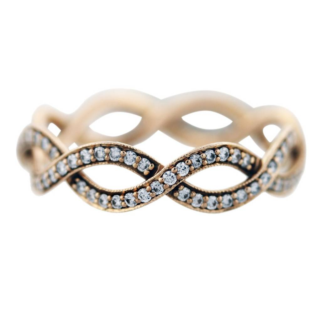tiffany and co rose gold diamond infinity ring wedding rings tiffany ZOOM