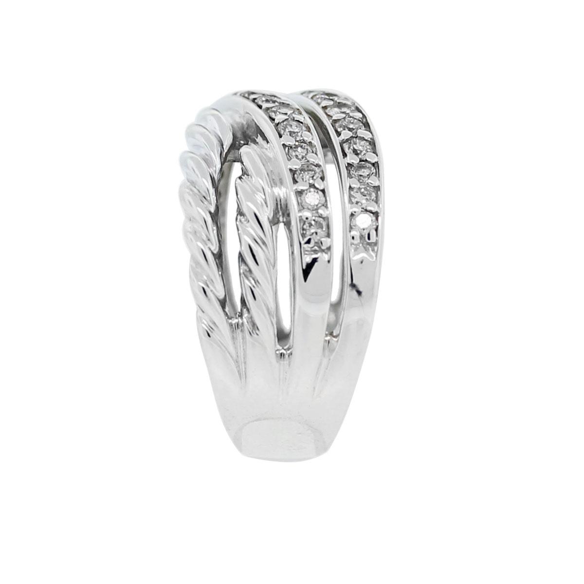 david yurman 53ctw diamond crossover ring david yurman wedding rings David Yurman Ring