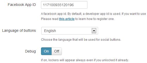 common settings onepress social locker