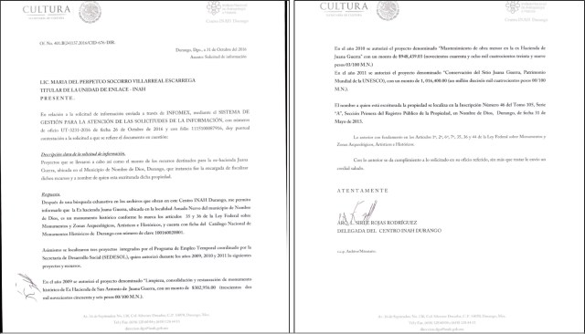 Documentos que comprueban la comisión del delito de peculado por parte del Coordinador de Patrimonio Cultural del ICED, Dr. Alberto Ramírez Ramírez. (Clic para ampliar)