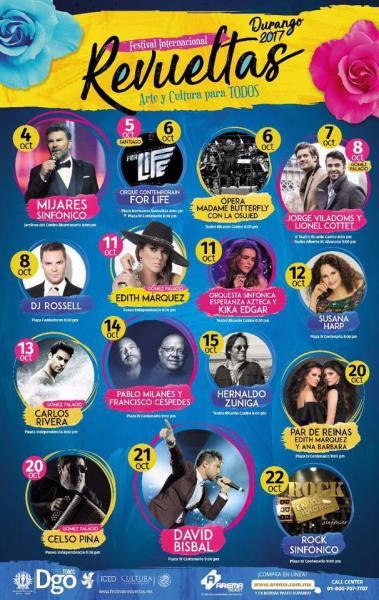 Más de la mitad del presupuesto del Festival Revueltas será destinado para pagar actuaciones de artistas de entretenimiento.