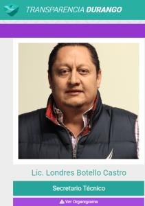 En la Comisión Estatal de Suelo y Vivienda, Londres Botello Castro, cuñado del gobernador Aispuro Torres, es el Secretario Técnico.