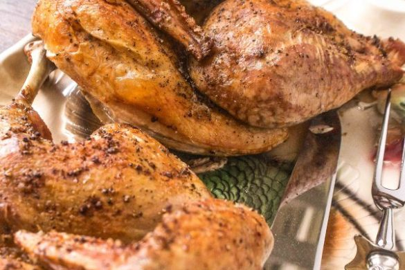 roasting turkey halves