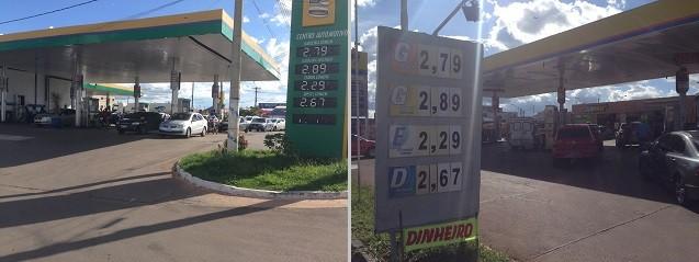 Postos disputam entre si e gasolina chega a R$2,79 no DF