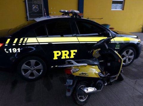 Motocicleta furtada em Mafra é localizado na BR 116