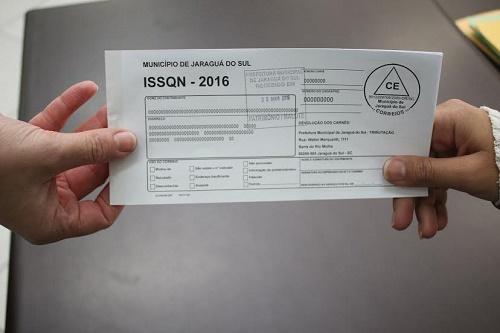 Carnês do ISSQN 2016 já foram encaminhados aos contribuintes de Jaraguá do Sul