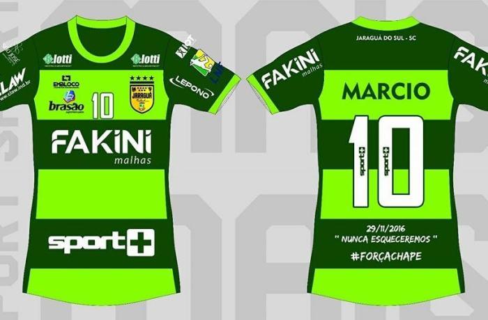Em homenagem à Chape, Jaraguá Futsal irá usar uniforme verde no clássico contra o Joinville