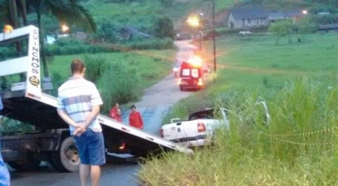Identificado criminoso que morreu após cair com carro no rio em Jaraguá do Sul