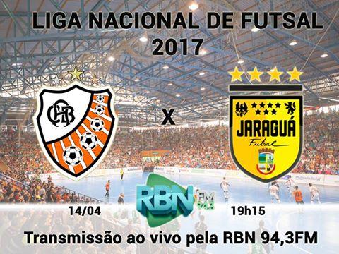 Jaraguá Futsal estreia hoje na LNF com transmissão ao vivo da RBN