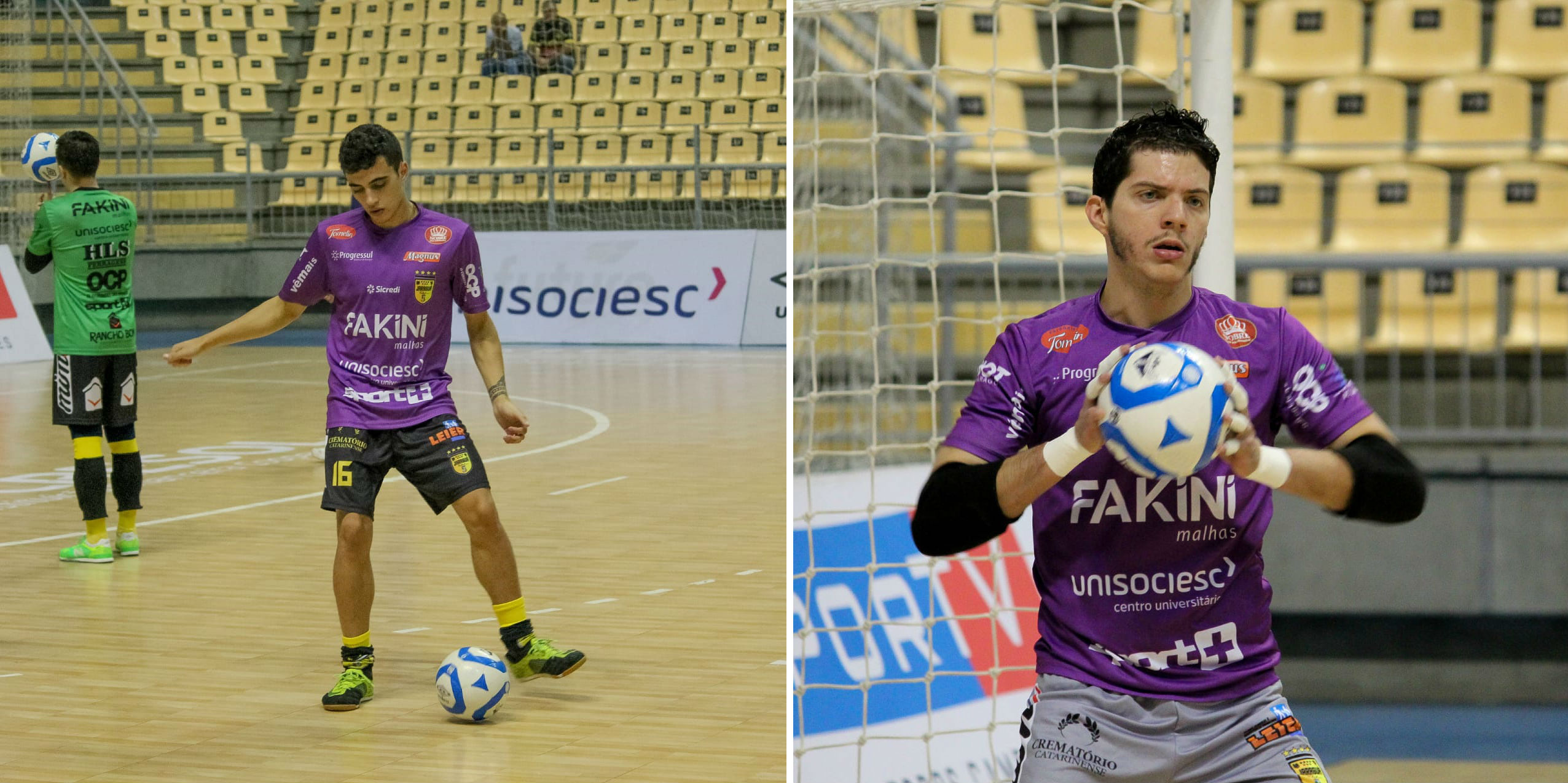 Jogador Torres ( primeira imagem) e o Goleiro João Neto ( segunda imagem) - Fotos: Emerson Gonçalves/Rádio RBN