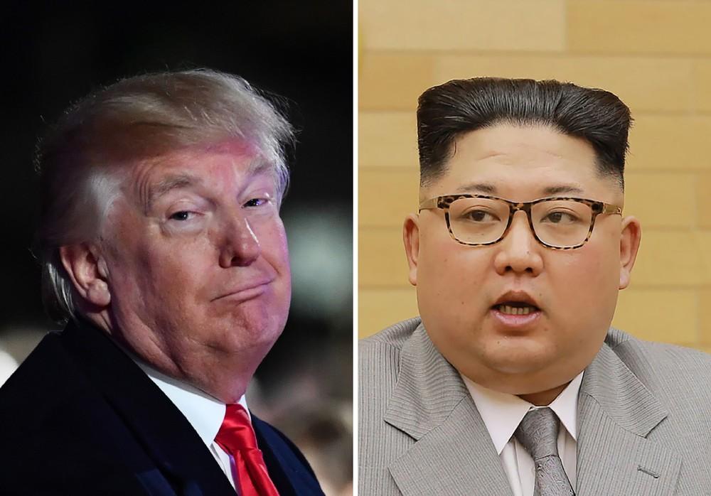 Combinação de fotos mostra o presidente dos EUA Donald Trump e o presidente da Coreia do Norte, Kim Jong-Un (Foto: Nicholas Kamm/AFP; KCNA via KNS)