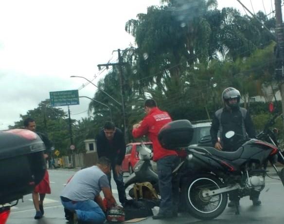 Duas motos colidem na rua Presidente Epitácio Pessoa