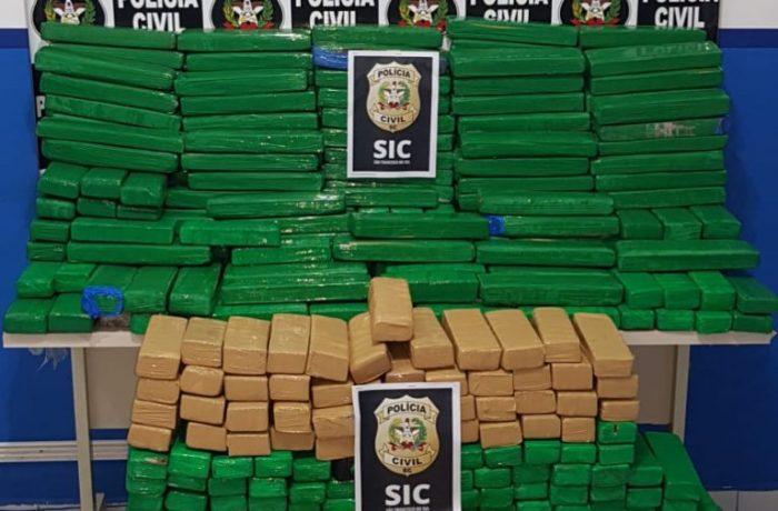 400 Kg de maconha são apreendidos em Penha