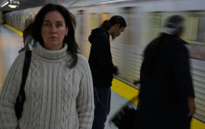 """High Park resident Julie Thomson, who lives near the Keele St. subway station,  says she """"may as well sleep on the platform"""" because it's just as loud there as it is in her home. Alex Consiglio/Toronto Star"""