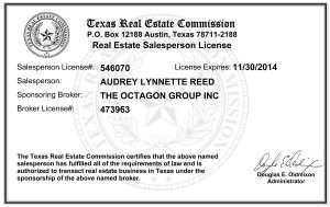 Audrey Reed Real Estate License