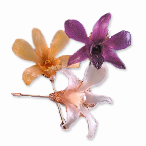 Traditional Pin | the classic stickpin with Hawaiian orchid