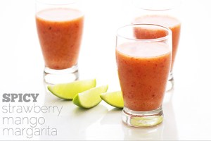 Spicy Strawberry-Mango Margarita from Real Food by Dad