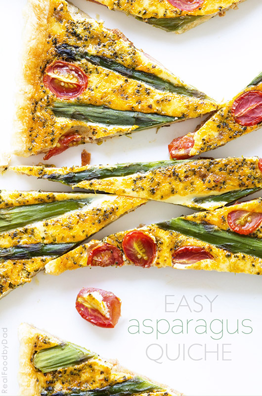 Easy Aspargus Quiche from Real Food by Dad