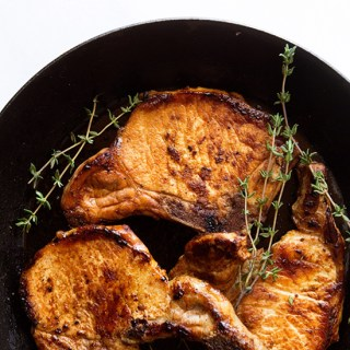 Bourbon Molasses Pork Chops from Real Food by Dad