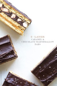 3-Layer Caramel and Chocolate-Marshamllow Bars by Real Food by Dad