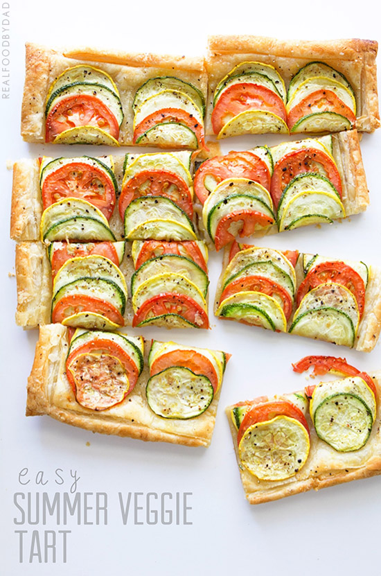... have grilled chicken with this summer vegetable tart for my protein
