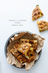 Cheddar and Jalapeno Turkey Waffle Melt via Real Food by Dad