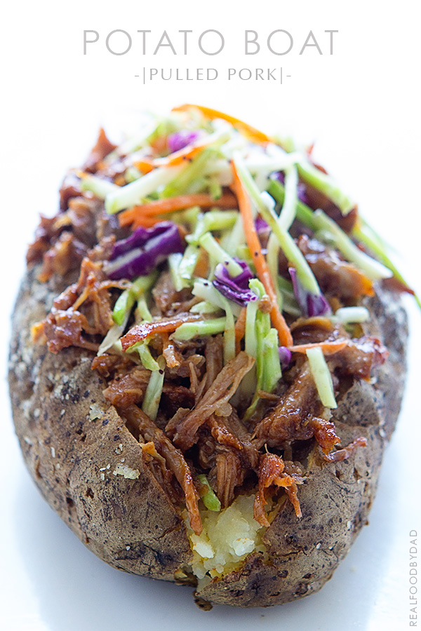 Pulled Pork Baked Potato via Real Food by Dad