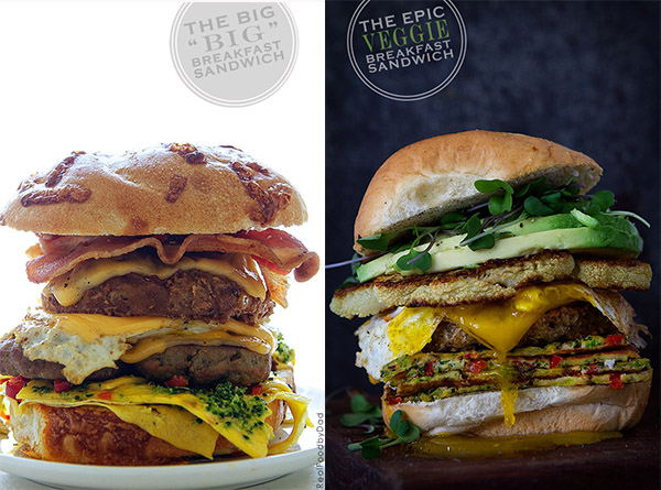 Blogger vs. Blogger Breakfast Sandwich