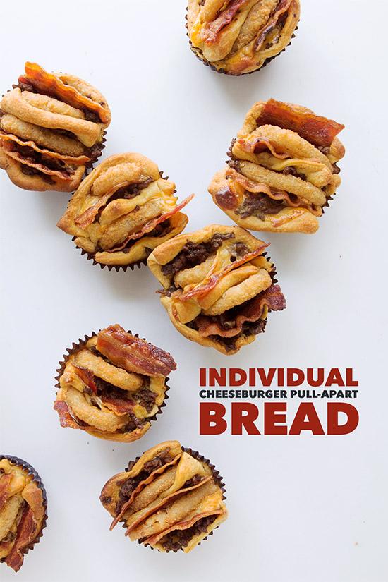Individual Cheeseburger Pull-Apart Bread _ Real Food by Dad