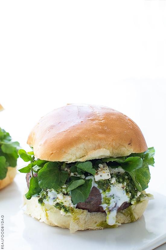 Mediterranean Lamb Burger _ Real Food by Dad