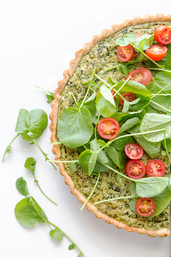 Spinach and Leek Quiche + Real Food by Dad