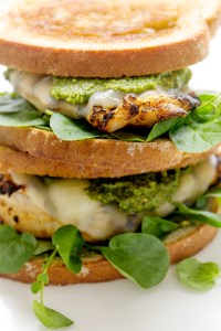 Grilled Chicken Pesto Sandwich via Real Food by Dad