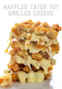 Waffled Tater Tot Grilled Cheese | Real Food by Dad