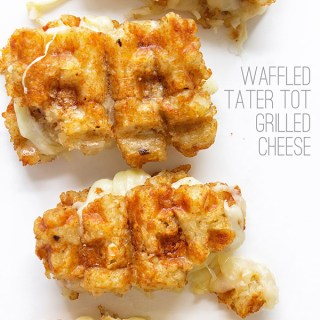 Waffled Tater Tot Grilled Cheese