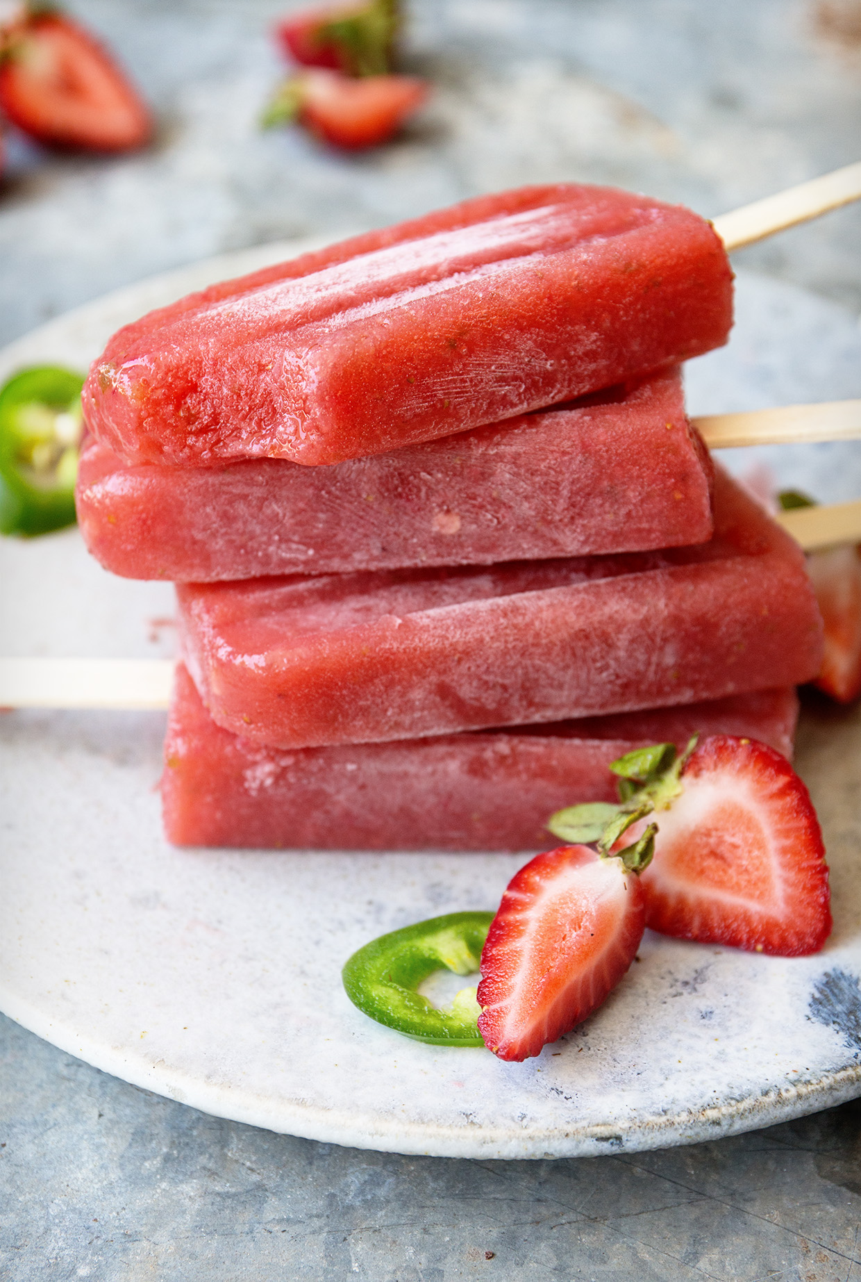 Strawberry and Jalapeno Gin Smash via Real Food by Dad