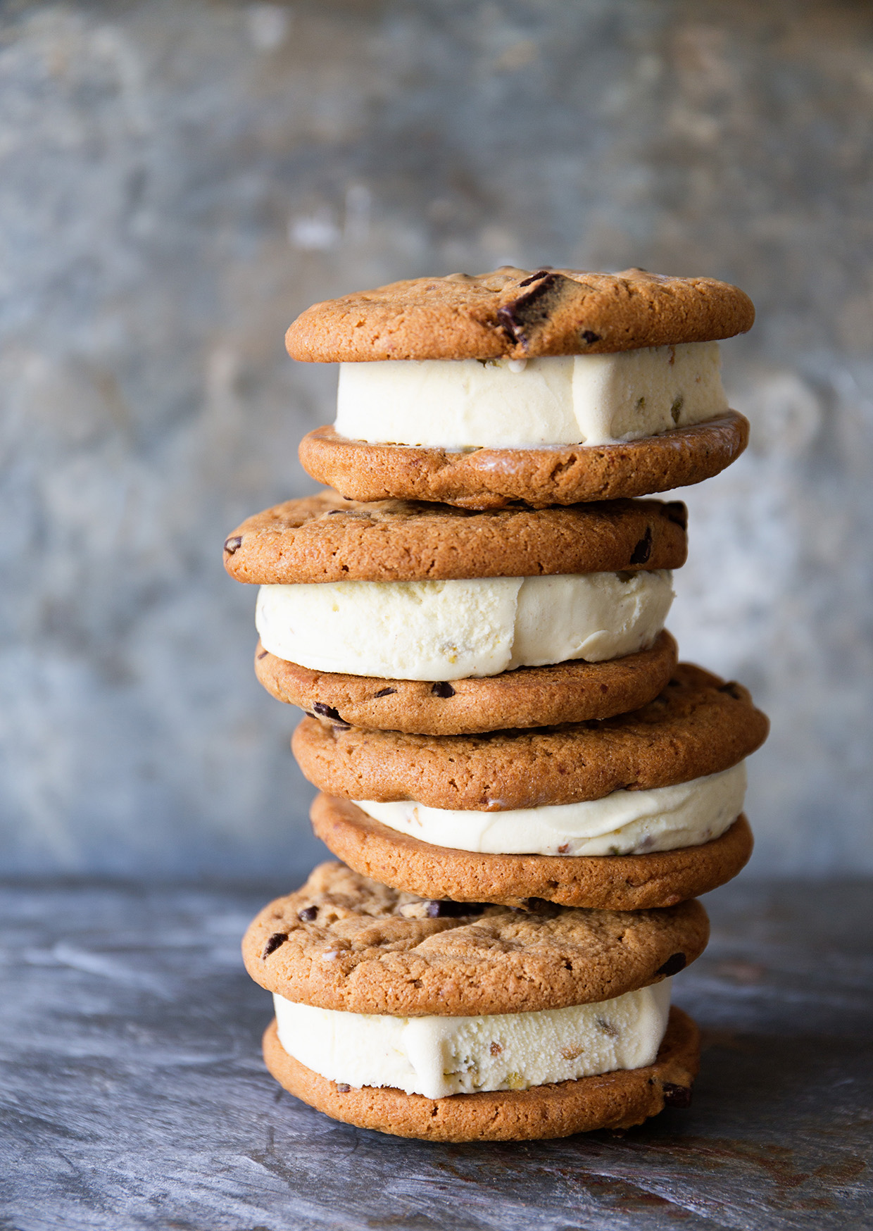 Otis Spumkmeyer Chocolate Chunk Ice Cream Sandwiches via Real Food by Dad