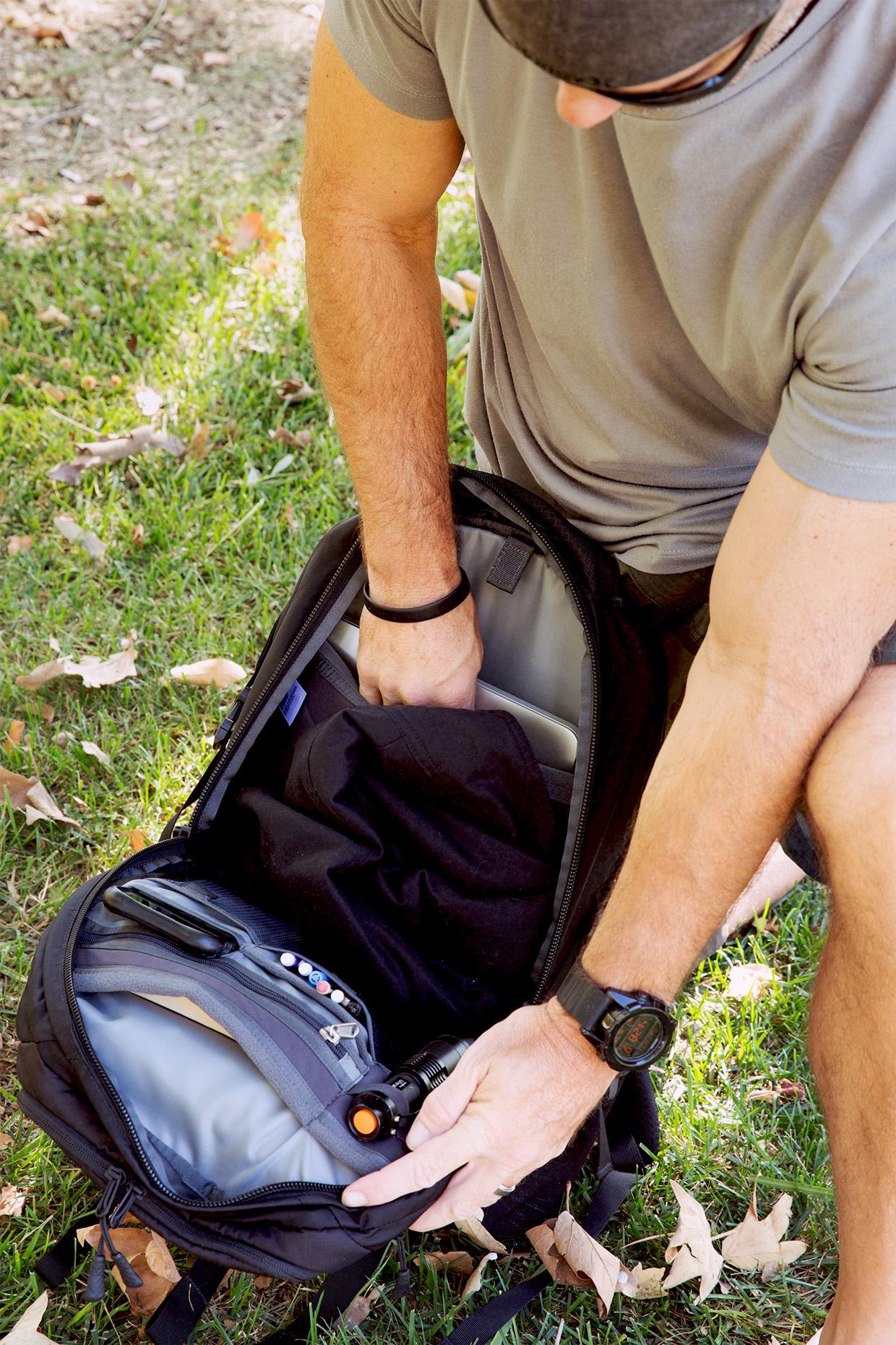 Matt Computer in Back Pack