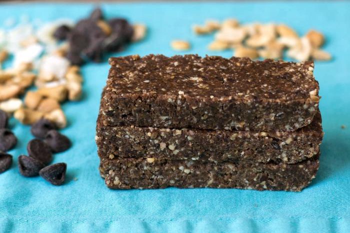 Chocolate homemade Larabars. Such a delicious snack recipe!