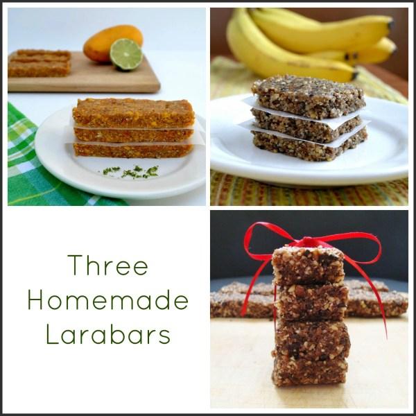 three homemade larabars