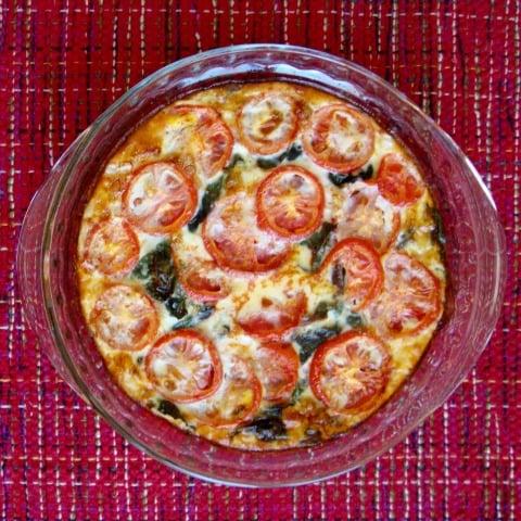 swiss chard tomato quiche