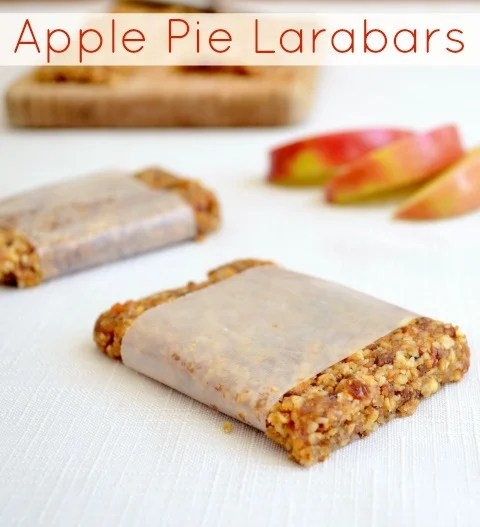 Apple Pie Larabars, a healthy homemade protein bar recipe with the flavors of fall and Thanksgiving | Real Food Real Deals