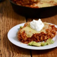 Chicken Rice Enchilada Skillet