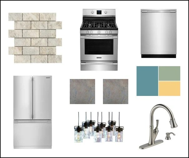 Dream kitchen mood board inspired by Frigidaire Professionals and Lowe's #sponsored