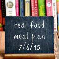 Real Food Meal Plan Week 72