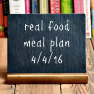Real Food Meal Plan Week 108