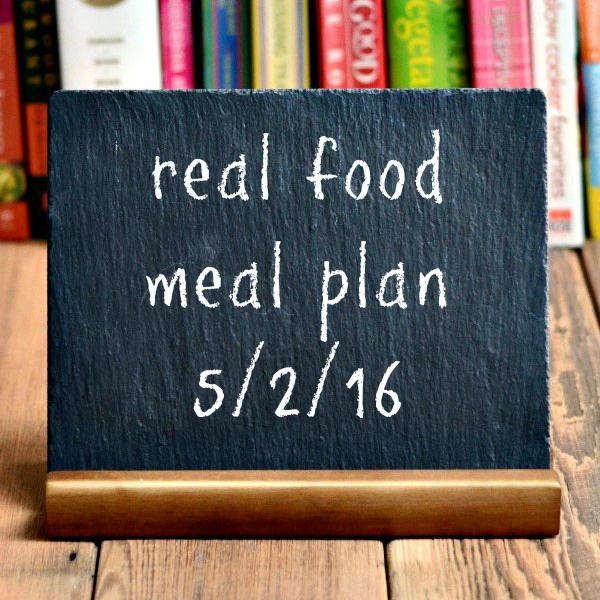Real Food Meal Plan Week 112