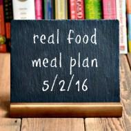Real Food Meal Plan Week 112