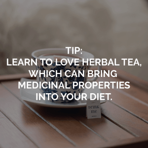 Sugar elimination tip about learning to love herbal tea to help your diet